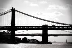Manhattan and Brooklyn bridges, New York