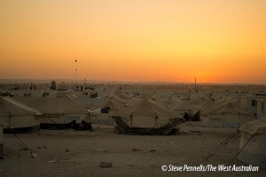 Dusk at Zaatari refugee camp. Less than a year old and already the 5th largest population centre in Jordan. #Syria