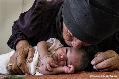 1 in 5 people fleeing Syria now are younger than 4. This baby was only 10 days old when smuggled across the border.