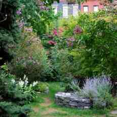 Originally parking lot, now community garden