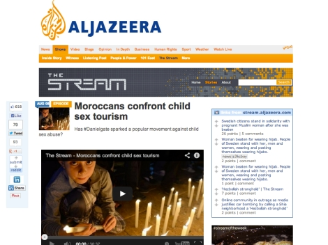 The Stream website 'Moroccans confront child sex tourism'