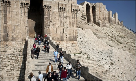Aleppo fortress (Photo: Bryan Denton for The New York Times)