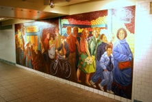 Times Square Subway/42nd St subway station: 'Return to Spring' by Jack Beal, 2001, glass mosaic