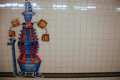 28th St Station, in honour of what once was the 'toy district'