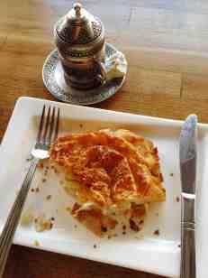 My quick Turkish breakfast -- 'eat in' style'.