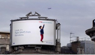 The BA billboard in Chiswick, west London