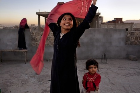 Nujood Ali, who stunned the world in 2008 by obtaining a divorce at age ten in Yemen, striking a blow against forced marriage. By Stephanie Sinclair.