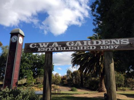 Or, rest in the CWA Gardens (which also has BBQ facilities).