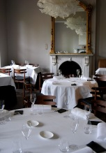 The Front Room; one of the three dining rooms, with the others being the Riedel Room, and the Birch Room.