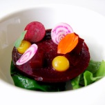 Salt crust roasted beetroot, blackberry juice