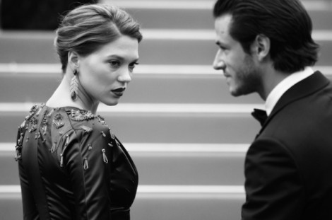 Léa Seydoux and Gaspard Ulliel Cannes 2014
