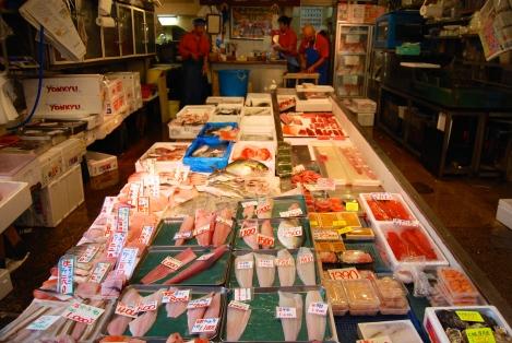 Pink and red, Tsukiji Fish Market