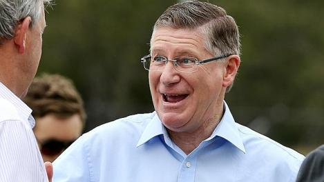 Denis Napthine on the Election Trail. (Photo: Tim Carrafa/Herald Sun)