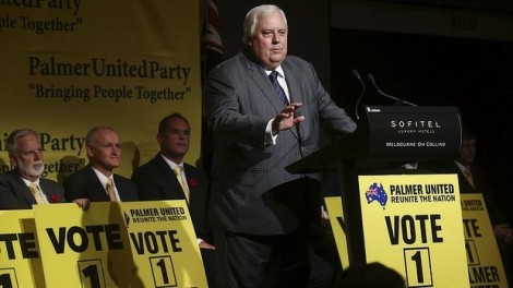 PUP comes to Victoria: Clive Palmer announces his candidates for the state election. (Photo: Paul Jeffers/The Age)