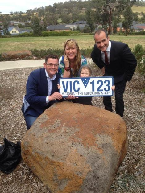 Labor will build the Mernda P-12 school - one of 11 new schools to be built under Labor. (Via Victorian Labor Twitter)