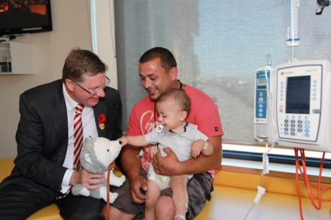 """RCH and Northern Hospital to partner to deliver paediatric care for families in northern suburbs"". (Via VicPremier Twitter)"