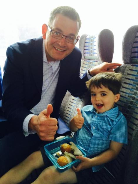 Special to have Ben the smallest offspring of Philip Dalidakis on bigredbus. Too cute! (Via Catherine Andrews Twitter)