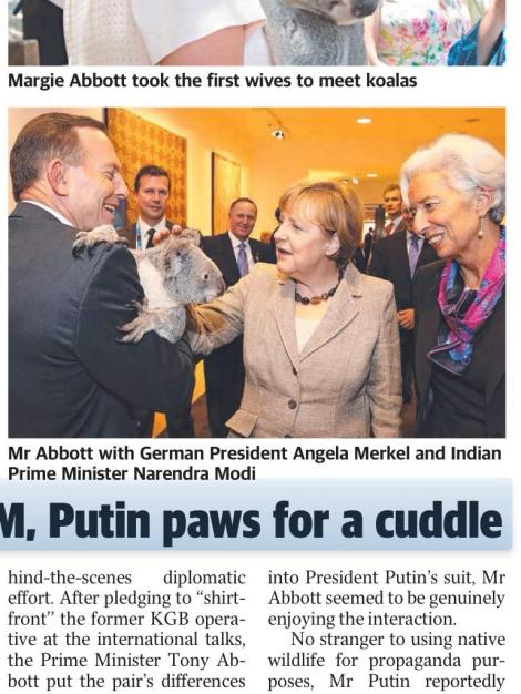"""Oh dear.. This G20 Sunday Tele pic really isn't Indian PM Narendra Modi.. "" (Via @KJBar Twitter)"