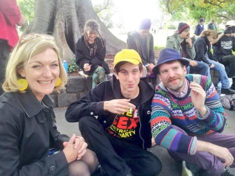 420 at Flagstaff Gardens in Melbourne. Legalise Cannabis at VicVotes (Via Australian Sex Party Twitter)