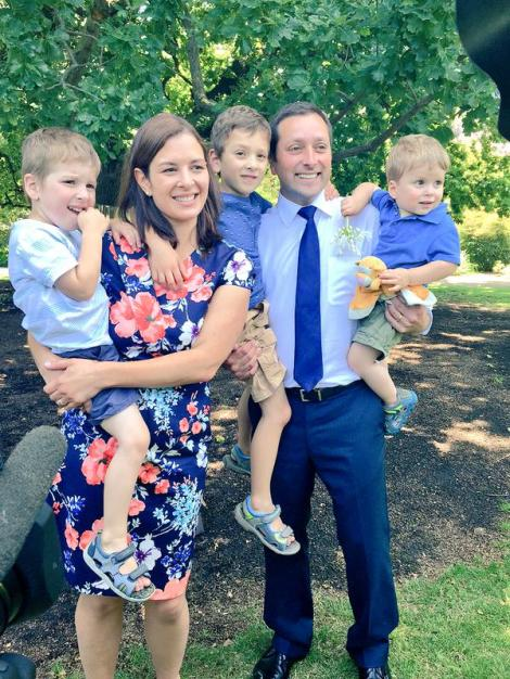 Vic opposition leader @MatthewGuyMP and family (Via Alison Savage Twitter)
