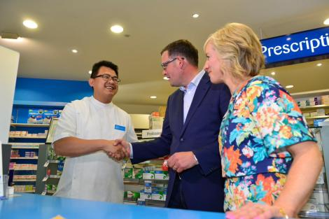 Labor's 24/7 Super Pharmacies will provide night nurses for on-the-spot medical advice (Via Daniel Andrews Twitter)