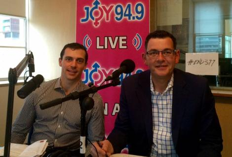 LIVE: VIC Opp Leader Danie lAndrews MP & Neil Pharaoh chat to Sat Mag JOY949 (Via JOY 94.9 Twitter)