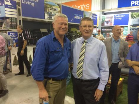 Great to open with Scotty Cam the Mitre 10 at Sebastopol = 35 jobs. Come & support this locally owned business -DN (Via Vic Premier Twitter)