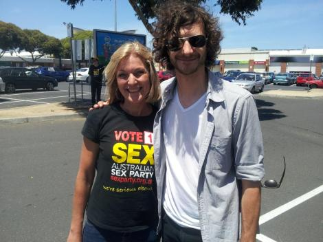 Thank you Gotye for a great day! Would loved to have seen Fiona Patten join you for a song! (Via AusSexParty Twitter)