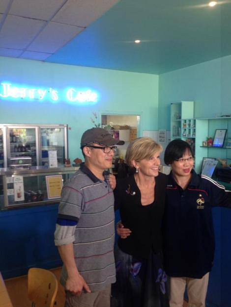 Owners of Jerry's Cafe read last week's Good Weekend profile on Bishop, now want photo to send to China (Via Richard Willingham Twitter)