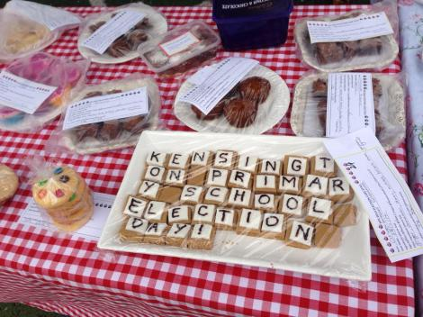 They also have a cake stall here. This polling booth has everything! (Via Tom Cowie Twitter)