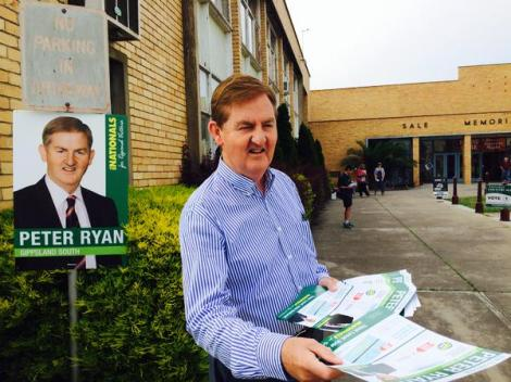 Kicking off Election Day at Memorial Hall in Sale 2 welcome Gippsland voters (Via Peter Ryan Twitter)