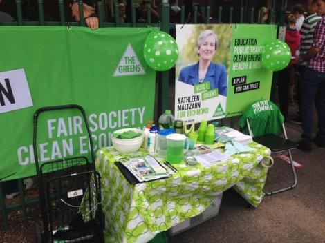 There's even Greens refreshments at some of our Polling Booths! (Via Kathleen Maltzahn Twitter)