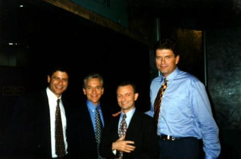ABC election panel from 1996 with two future Premiers (and me before I went grey!) (Via Antony Green Twitter)