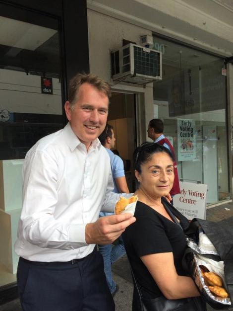 My good mate and local resident Ana, has delivered home made empanadas to us on the poll booth in Prahran (Via Clem Newton Brown Twitter)