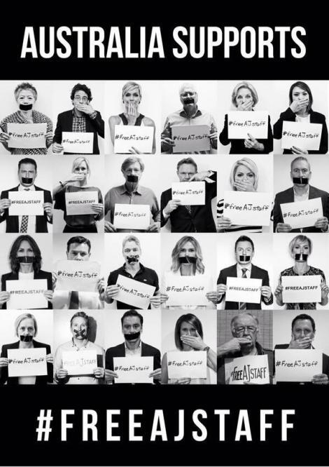 Australia supports #FreeAJStaff.