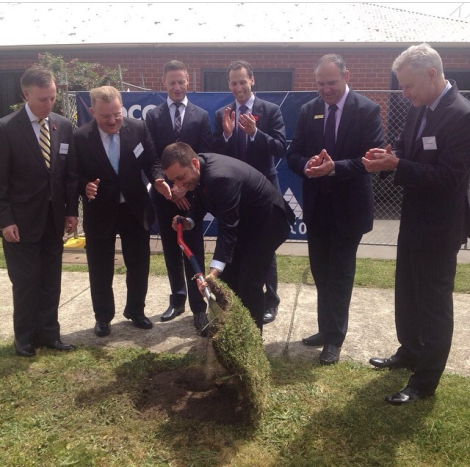 Launching new Peninsula Private hospital with Bruce Bilson, David Morris and Sean Armistead (Via Matthew Guy Instagram)