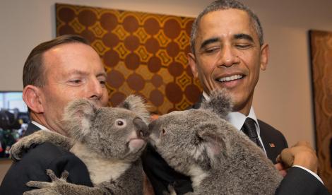 Australian Prime Minister Abbott and U.S. President Obama ( Andrew Taylor/G20 Australia)