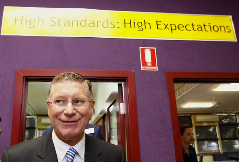 Premier of Victoria Dr Denis Napthine visits to Chelsea Heights Primary School. (Photo: Eddie Jim/The Age)