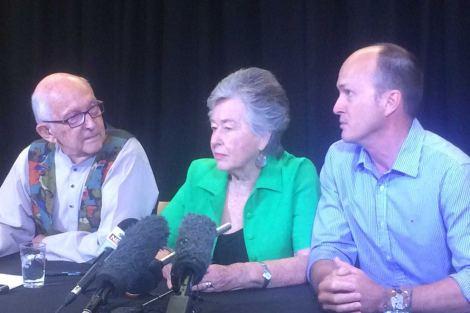Peter Greste's family - Juris, Lois and Andrew 30 January 2015 (Via ABC Australia)