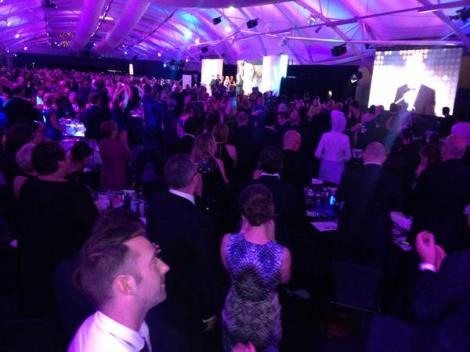 4 April: Standing ovation for Peter Greste at the Walkleys Awards (Via @_rachelhayter Twitter)
