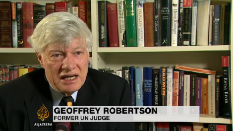 Geoffrey Robertson speaks on Al Jazeera about the journalists' on their 400th day in prison.