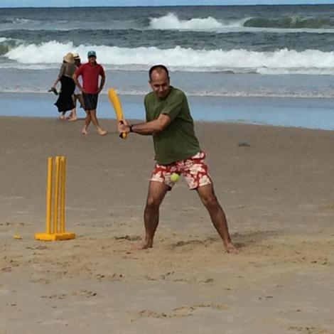 """Sand, surf, family and freedom. Feels great to bat for myself for once! #journalismisnotacrime""(Via Peter Greste Twitter)"