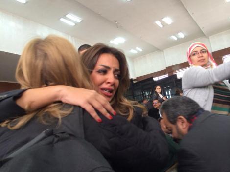The moment Fahmy's fiancé found heard bail verdict via Daniele Hamamdjian Twitter