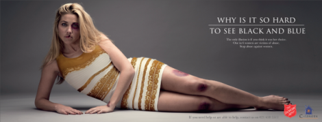 Salvation Army South Africa domestic violence campaign featuring 'the dress'