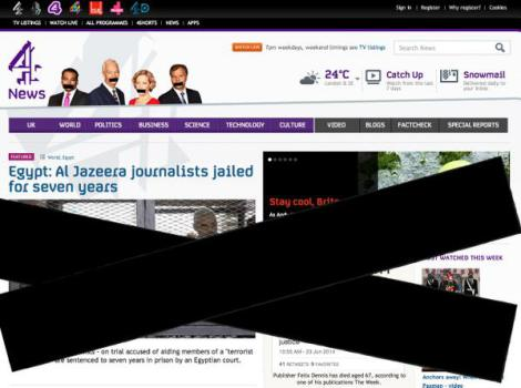 UK's Channel 4 News 'silences' its website. (Via @Channel4News Twitter)
