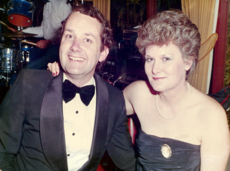 Sally with husband Ken in the 1980s (Photo via Sally Davis)