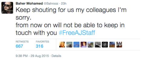 FreeAJStaff Baher prison
