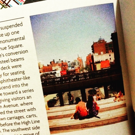 The photo I took, on page 34, in The High Line Field Guide (Photo: Amy Feldtmann)