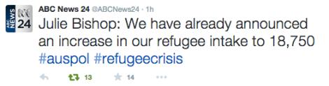 Aus increase refugees