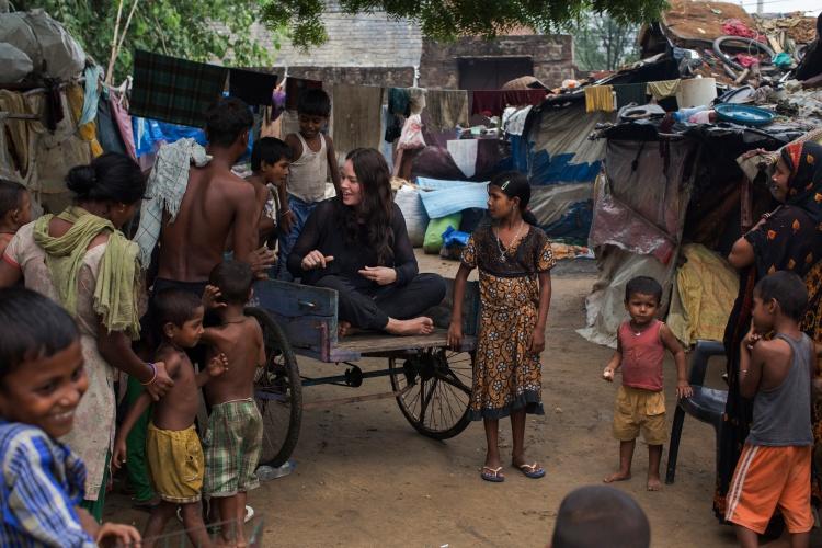 Kelly McJannett in Haryana, West Delhi, India (Photo: Matthew Abbott)